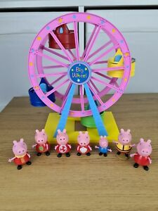 Peppa Pig Theme Park Big Wheel Ferris Toy Playset With Peppa Figures Characters