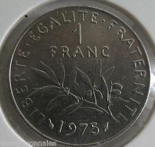 1 franc semeuse 1975 : SPL : pièce de monnaie française
