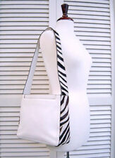 ADRIENNE VITTADINI Purse-White LEATHER & HAIR-ON ZEBRA Print COWHIDE-NEVER USED