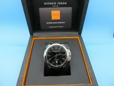 GIORGIO FEDON 1919 Timeless VI Automatic Blk Dial Men's Watch Blk Leather Strap