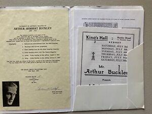Arthur Buckley LECTURE SOUVENIR MEMORABILIA Collector Item