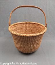 New Nantucket Lightship Basket - Rare Everted Rim
