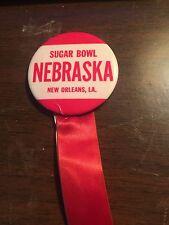 University Of Nebraska  Vintage College Football Pin From 1974 Sugar Bowl