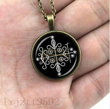 papa legba voodoo pendant ritual altar pendant occult medallion diy jewelry glas