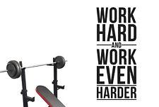 Work Hard And Work Even Harder Vinilo Pegatinas De Pared Adhesivo Decoración