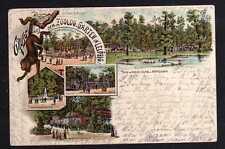 99934 AK Litho Gruss aus dem Zoologischen Garten Leipzig 1897 Vogel Haus Antilop