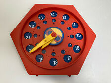 Vtg Clock Toy 1987 Polydron U.K. Kinder Clock Educational