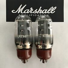 KT66 ORIGINAL MARSHALL SPARES MATCHED PAIR VALVE/TUBE