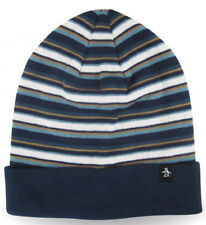 outlet store 907eb 5b9b7 Original Penguin Striped Beanie Knit Winter Hat Mens Womens Fashion