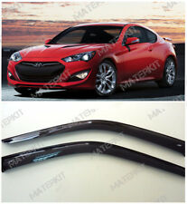 For Hyundai Genesis Coupe 2013 -16 Deflectors Windows Visors Rain Guard Sun