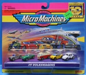 VINTAGE MICRO MACHINES MINT ON GOOD CARD # 09 VOLKSWAGENS VW