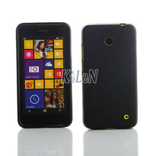 Black TPU Silicon Case For Nokia Lumia 630/635 - Matte Frosted Gel Cover Skin