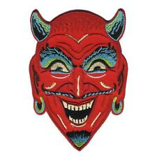 Fun House Devil Patch Iron On Patch Red Demon Halloween Horror Retro Rockabilly