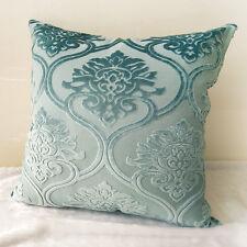 New Aqua Velvet Damask Home Decor Cushion Cover Pillow Case 55cm x 55cm