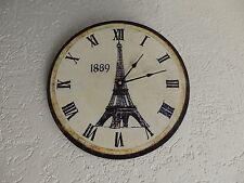 NEU LANDHAUS Wanduhr CUSINE shabby chic Küchenuhr Vintage Uhr Eifelturm