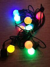 10er Lichterkette Partybeleuchtung bunt mit Aufhängevorrichtungen, Akku