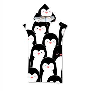 Penguin Whale Swan Cat Hooded Surf Swim Bath Beach Towel Poncho Changing Robe