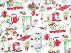Fifties Kitchen fabric by Michael Miller- 50's Kitchen, Vintage By The Yard