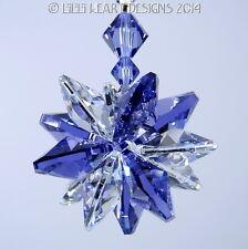 m/w Swarovski Tanzanite + Clear Lily Octagon Star SunCatcher Lilli Heart Designs