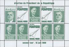 """VIGNETTE POLITIQUE VERT FONCE """"Présidentielle 2e TOUR / POMPIDOU - POHER"""" 1969"""