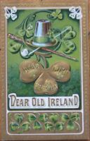 1910 Litho St. Patrick's Day Postcard- Dear Old Ireland