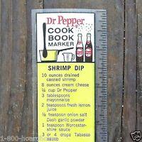2 Different DR. PEPPER SODA MARKER COOKBOOK Promotional Giveaway 1950s NOS