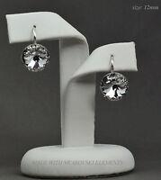 925 Sterling Silver Earrings Crystal Clear12mm Rivoli Crystals from Swarovski®
