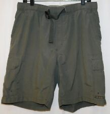 "Columbia Men's Shorts Size L Cargo Khaki Olive RN 69724 Brief Lined 9"" Inseam"