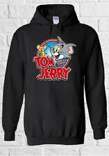 Tom and Jerry Cartoon Cat Mice Funny Men Women Unisex Top Sweatshirt Hoodie 2277