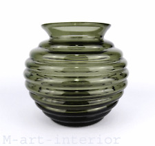 große Glas Vase Rippenvase Wilhelm Wagenfeld Glass Bauhaus VLG 1939 very rare