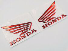 3D Raise Fuel Tank Badge Fairing Emblem Decal for Honda Wing Red 90mm x 70mm Set