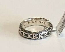 NWT DAVID YURMAN Mens Silver 7mm Frontier Band Ring $350  Size 11