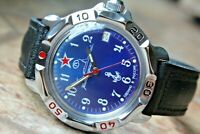 Vostok Komandirskie Mechanical Military Russian wrist watch Navy VMF 811289