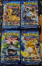 Pokemon XY Evolutions Booster Pack Artset x4 Sealed