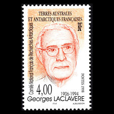 TAAF 1998 - Death of Georges Laclavere, Geographer, 1906-1994 - Sc 241 MNH