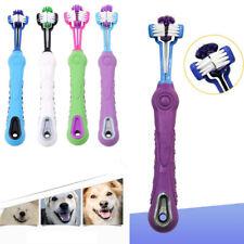 Tres caras cepillo de dientes perro mascota de Cepillo de Limpieza Cuidado de Dientes Perro Gato 1PC de limpieza