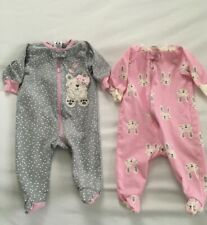 Gerber Baby Girl Sleepers Lot Of 2 Sz 0-3M