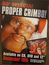BO' SELECTA - Proper Chrimbo - Single Promotional Poster *RARE*