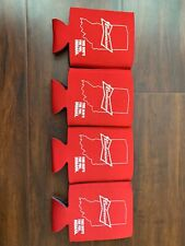 NEW 4 Pack Budweiser INDIANA Beer Can Bottle Coolor Koozie