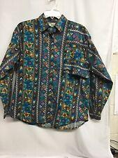 Vintage Mine & Bills Wetsern Shirt Size Med