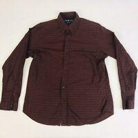 Ralph Lauren Men's Large Oxford Red & Blue Gingham Plaid L/S Button Down Shirt