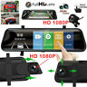 "Touch Screen Dual Lens 10"" HD Auto Dashcam DVR Kamera Rückspiegel Recorder 1080P"