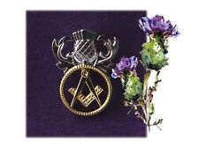 Fraternal Greetings Brethren  -  The Scottish Freemasons Masonic Pin Badge