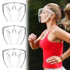 1-3 Pack Clear Face Shield Face Mask Transparent Reusable Glasses Visor Anti-Fog