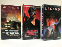Action Movie Fantasy Movie 3 Pack VHS Tapes Good Condition Retro Movies Classic