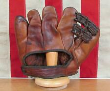 Vintage 1930s Goldsmith Leather Baseball Glove Split Finger Mitt Claude Passeau