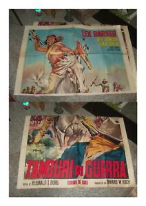 TAMBURI DI GUERRA manifesto 4F  originale 1957 LEX BARKER