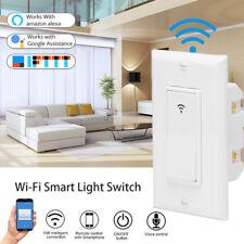 1 Gang Smart WiFi Wall Light Switch Socket Timer APP Remote for Alexa Google New