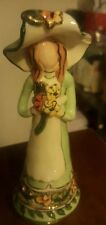 "2002 Blue Sky Corp 6"" Girl Holding Flowers Green dress By Heather Goldmine"