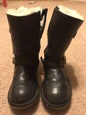 Ugg Kensington Black Biker Boots Genuine UK 12 US 13 EU 30